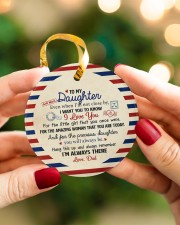 I'M ALWAYS THERE - BEST GIFT FOR DAUGHTER FROM DAD Circle ornament - single (porcelain) aos-circle-ornament-single-porcelain-lifestyles-08