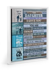YOU ARE MY SUNSHINE - LOVELY GIFT FOR DAUGHTER 11x14 White Floating Framed Canvas Prints thumbnail