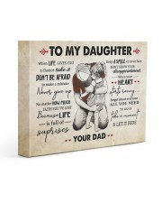 NEVER GIVE UP - LOVELY GIFT FOR DAUGHTER 14x11 Gallery Wrapped Canvas Prints front
