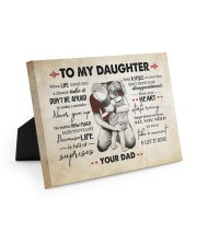 NEVER GIVE UP - LOVELY GIFT FOR DAUGHTER 10x8 Easel-Back Gallery Wrapped Canvas thumbnail