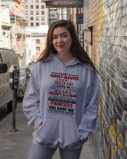 HE HAS ANGER ISSUES - BEST GIFT FOR DAUGHTER Hooded Sweatshirt lifestyle-unisex-hoodie-front-1