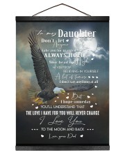 BELIEVING IN YOURSELF - TO DAUGHTER FROM DAD 12x16 Black Hanging Canvas thumbnail