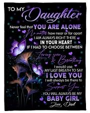 I LOVE YOU - LOVELY GIFT FOR DAUGHTER FROM DAD Fleece Blanket tile