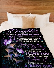 """I LOVE YOU - LOVELY GIFT FOR DAUGHTER FROM DAD Large Fleece Blanket - 60"""" x 80"""" aos-coral-fleece-blanket-60x80-lifestyle-front-02"""