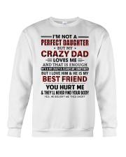 DAD LOVES ME - BEST GIFT FOR DAUGHTER Crewneck Sweatshirt tile