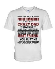 DAD LOVES ME - BEST GIFT FOR DAUGHTER V-Neck T-Shirt tile