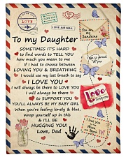 I LOVE YOU - SPECIAL GIFT FOR DAUGHTER FROM DAD Fleece Blanket tile