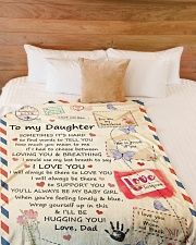 """I LOVE YOU - SPECIAL GIFT FOR DAUGHTER FROM DAD Large Fleece Blanket - 60"""" x 80"""" aos-coral-fleece-blanket-60x80-lifestyle-front-02"""
