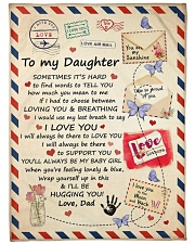 """I LOVE YOU - SPECIAL GIFT FOR DAUGHTER FROM DAD Large Fleece Blanket - 60"""" x 80"""" front"""