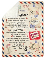 """I LOVE YOU - SPECIAL GIFT FOR DAUGHTER FROM DAD Large Sherpa Fleece Blanket - 60"""" x 80"""" thumbnail"""