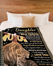 """BEST FRIEND - SPECIAL GIFT FOR DAUGHTER Large Fleece Blanket - 60"""" x 80"""" aos-coral-fleece-blanket-60x80-lifestyle-front-02"""