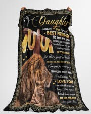 """BEST FRIEND - SPECIAL GIFT FOR DAUGHTER Large Fleece Blanket - 60"""" x 80"""" aos-coral-fleece-blanket-60x80-lifestyle-front-10"""