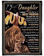 """BEST FRIEND - SPECIAL GIFT FOR DAUGHTER Large Fleece Blanket - 60"""" x 80"""" front"""