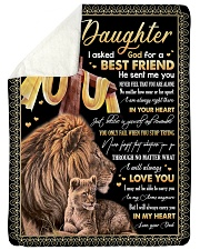 """BEST FRIEND - SPECIAL GIFT FOR DAUGHTER Large Sherpa Fleece Blanket - 60"""" x 80"""" thumbnail"""