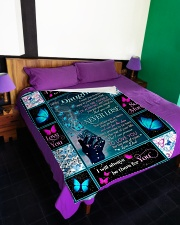 """I LOVE YOU TO THE MOON AND BACK Large Fleece Blanket - 60"""" x 80"""" aos-coral-fleece-blanket-60x80-lifestyle-front-01"""