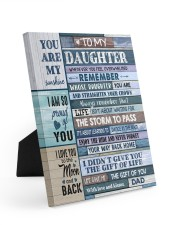 I AM SO PROUD OF YOU Easel-Back Gallery Wrapped Canvas tile