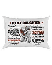 I WILL ALWAYS LOVE YOU - TO DAUGHTER FROM DAD Rectangular Pillowcase front