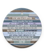 I LOVE YOU - GREAT GIFT FOR DAUGHTER Circle ornament - single (porcelain) front