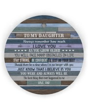 I LOVE YOU - GREAT GIFT FOR DAUGHTER Circle ornament - single (wood) thumbnail
