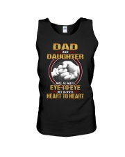 DAD AND DAUGHTER ALWAYS HEART TO HEART Unisex Tank tile