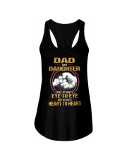 DAD AND DAUGHTER ALWAYS HEART TO HEART Ladies Flowy Tank tile