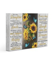 FOLLOW YOUR DREAMS - BEST GIFT FOR DAUGHTER 14x11 Gallery Wrapped Canvas Prints front