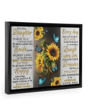 FOLLOW YOUR DREAMS - BEST GIFT FOR DAUGHTER 14x11 Black Floating Framed Canvas Prints thumbnail