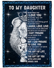 "THE GIFT OF LIFE - DAD TO DAUGHTER Large Fleece Blanket - 60"" x 80"" front"