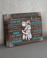 I LOVE YOU - TO DAUGHTER FROM DAD 14x11 Gallery Wrapped Canvas Prints aos-canvas-pgw-14x11-lifestyle-front-15