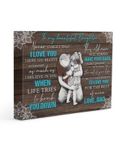 I LOVE YOU - TO DAUGHTER FROM DAD 14x11 Gallery Wrapped Canvas Prints front