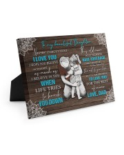 I LOVE YOU - TO DAUGHTER FROM DAD 10x8 Easel-Back Gallery Wrapped Canvas thumbnail