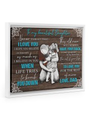 I LOVE YOU - TO DAUGHTER FROM DAD 14x11 White Floating Framed Canvas Prints thumbnail