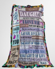 """YOU ARE MY SUNSHINE - BEST GIFT FOR DAUGHTER Large Fleece Blanket - 60"""" x 80"""" aos-coral-fleece-blanket-60x80-lifestyle-front-10"""