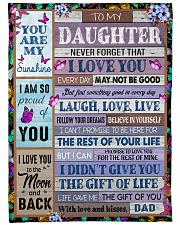 """YOU ARE MY SUNSHINE - BEST GIFT FOR DAUGHTER Large Fleece Blanket - 60"""" x 80"""" front"""