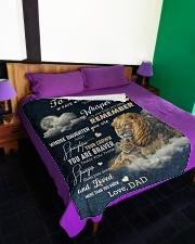 """I AM THE STORM - GREAT GIFT FOR CHILD Large Fleece Blanket - 60"""" x 80"""" aos-coral-fleece-blanket-60x80-lifestyle-front-01"""