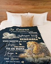"""I AM THE STORM - GREAT GIFT FOR CHILD Large Fleece Blanket - 60"""" x 80"""" aos-coral-fleece-blanket-60x80-lifestyle-front-02"""