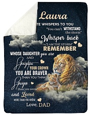 """I AM THE STORM - GREAT GIFT FOR CHILD Large Sherpa Fleece Blanket - 60"""" x 80"""" thumbnail"""