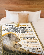 """I LOVE YOU - AMAZING GIFT FOR SON Large Fleece Blanket - 60"""" x 80"""" aos-coral-fleece-blanket-60x80-lifestyle-front-02"""
