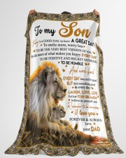 """I LOVE YOU - AMAZING GIFT FOR SON Large Fleece Blanket - 60"""" x 80"""" aos-coral-fleece-blanket-60x80-lifestyle-front-10"""