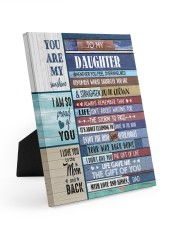 THE GIFT OF LIFE - TO DAUGHTER FROM DAD Easel-Back Gallery Wrapped Canvas tile