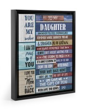 THE GIFT OF LIFE - TO DAUGHTER FROM DAD Floating Framed Canvas Prints Black tile
