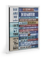 THE GIFT OF LIFE - TO DAUGHTER FROM DAD Floating Framed Canvas Prints White tile