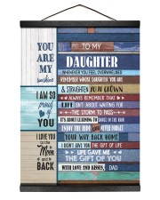 THE GIFT OF LIFE - TO DAUGHTER FROM DAD Hanging Canvas tile