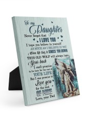 I LOVE YOU - AMAZING GIFT FOR DAD 8x10 Easel-Back Gallery Wrapped Canvas thumbnail