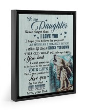 I LOVE YOU - AMAZING GIFT FOR DAD 11x14 Black Floating Framed Canvas Prints thumbnail
