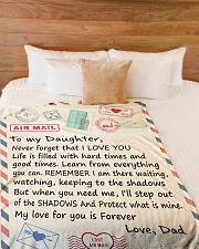 """I LOVE YOU - LOVELY GIFT FOR DAUGTER FROM DAD Large Fleece Blanket - 60"""" x 80"""" aos-coral-fleece-blanket-60x80-lifestyle-front-02"""