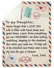 I LOVE YOU - LOVELY GIFT FOR DAUGTER FROM DAD Sherpa Fleece Blanket tile