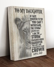 I AM THE STORM - TO DAUGHTER FROM DAD 11x14 Gallery Wrapped Canvas Prints aos-canvas-pgw-11x14-lifestyle-front-17