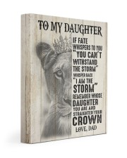 I AM THE STORM - TO DAUGHTER FROM DAD 11x14 Gallery Wrapped Canvas Prints front
