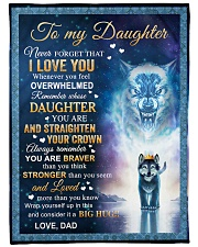 """NEVER FORGET THAT I LOVE YOU Large Fleece Blanket - 60"""" x 80"""" front"""